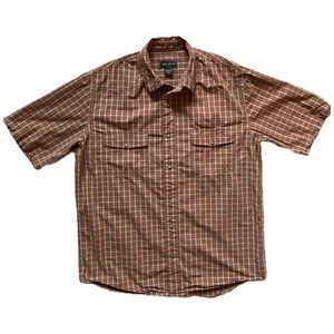 Eddie Bauer Plaid Button-Up Short Sleeve Shirt